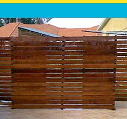slats and screen fencing