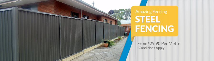 colorbond fence steel fencing