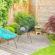 timber fencing for small gardens