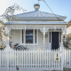 White Picket Fence infront of a Melbourne Terrace Home
