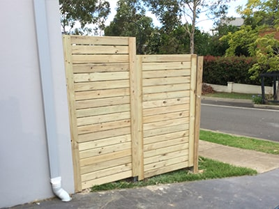 Treated timber fencing gold coast